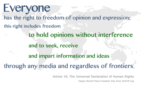 Article 19 The Universal Declaration Of Human Rights Declaration Of Human Rights Freedom Freedom Day