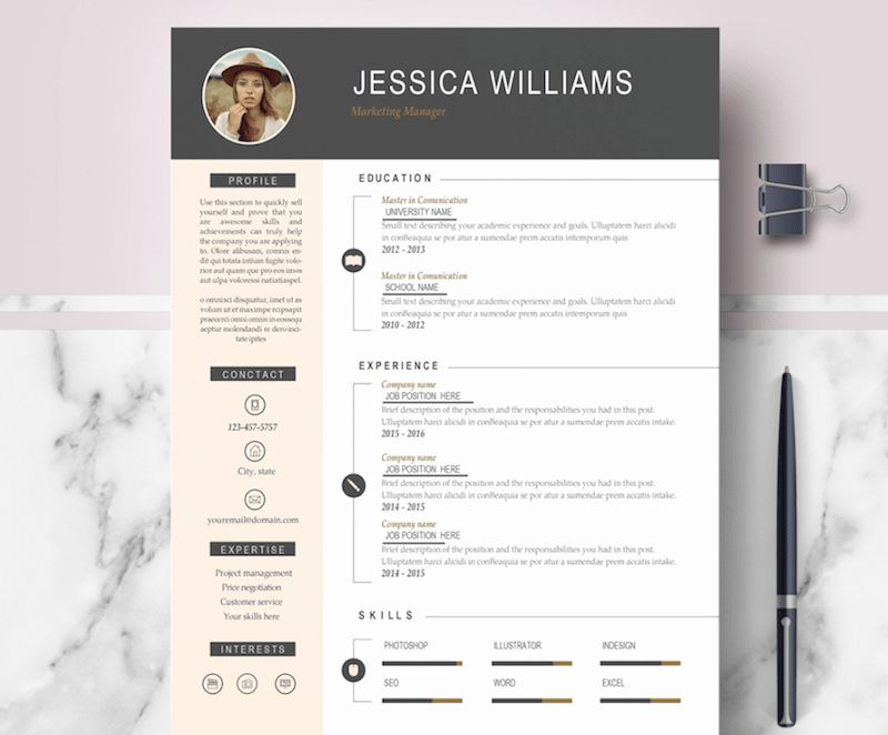 40 Modern Resume Template Word In 2020 With Images Free Cv
