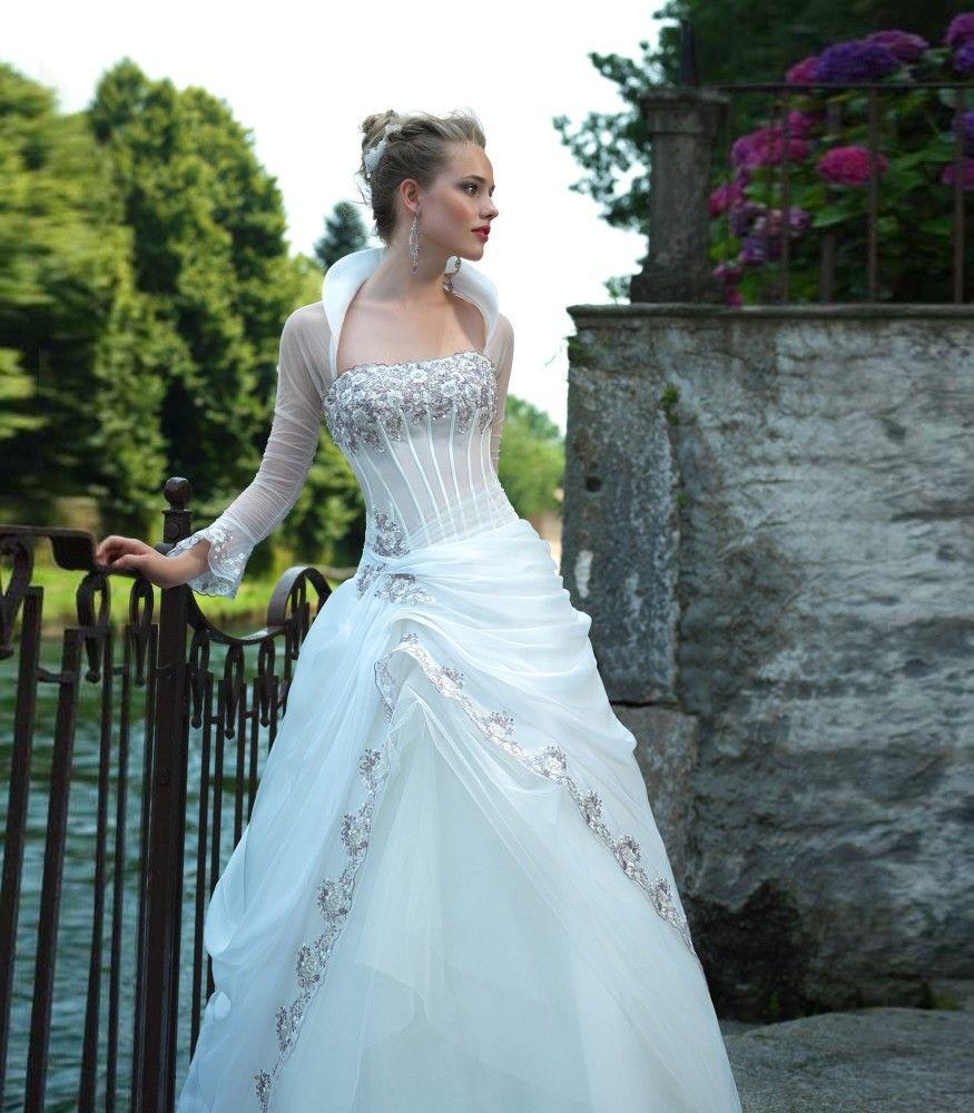 Abito da Sposa in Pizzo Glicine Dorato di Valentini Spose - Abiti da ...