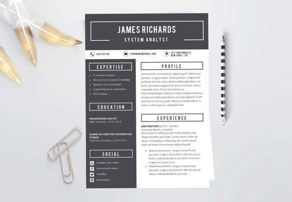 professional resume  professional cv  masculine by laurelresume