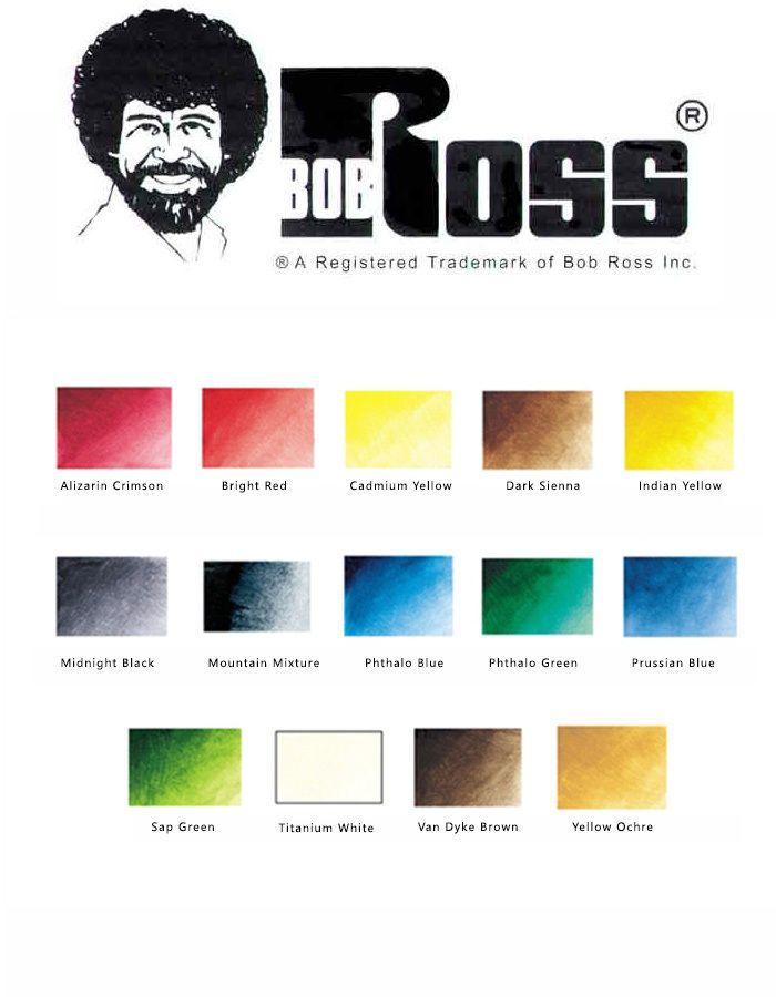 Bob Ross Malerei Verschneiten Hochgebirgs