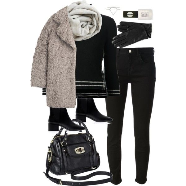 A fashion look from January 2015 featuring black sweater, Zadig & Voltaire and black skinny jeans. Browse and shop related looks.
