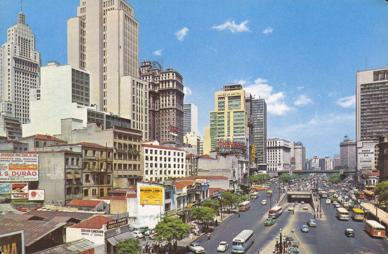 Sao Paulo Vale Do Anhangabau Decada De 60 Maravilhas Do