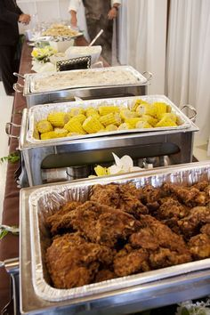 No Southern wedding would be complete without FRIED CHICKEN ...