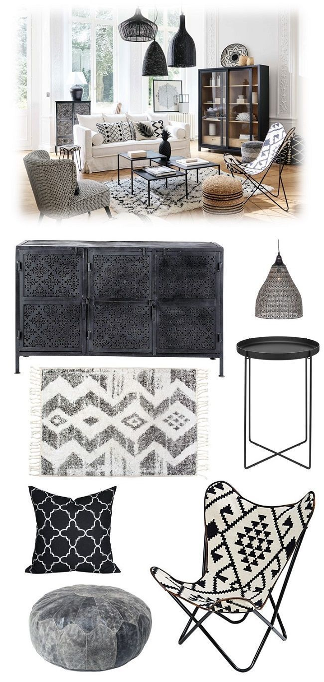Monochrome Moroccan Living Room Ideas images
