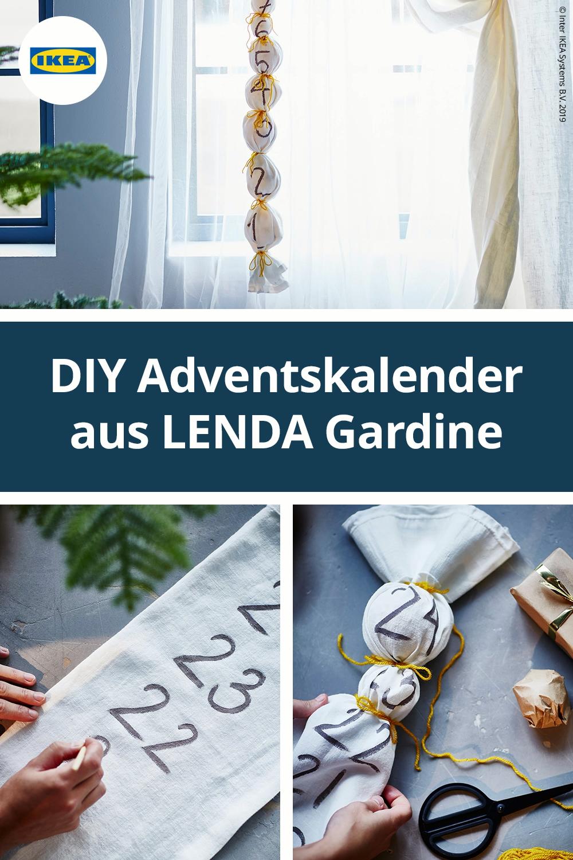 DIY Adventskalender aus LENDA Gardine