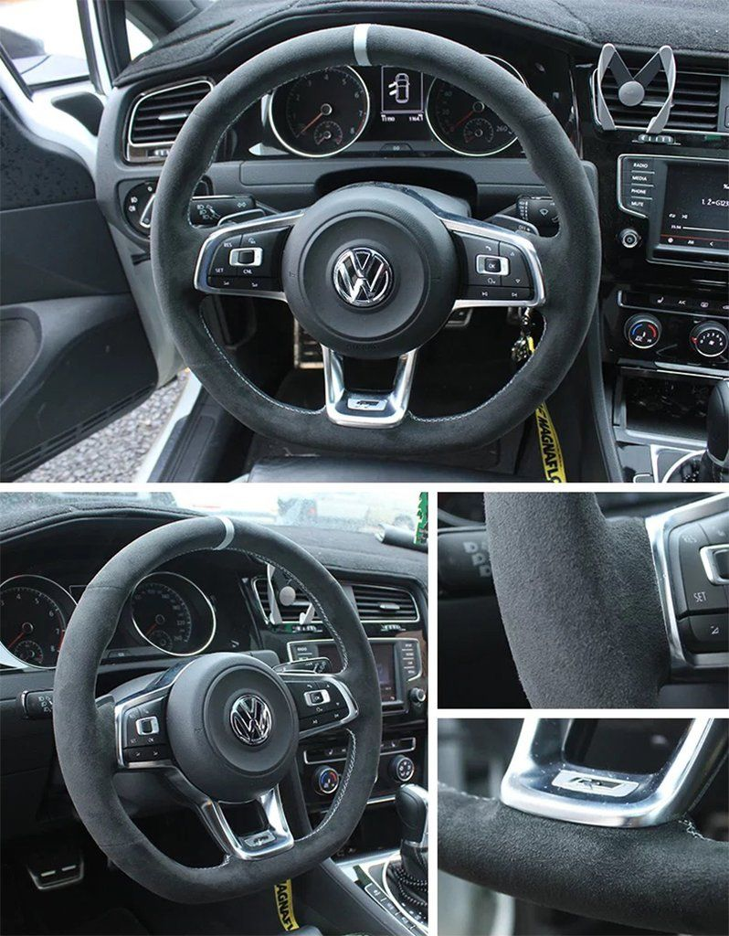 synthetic cashmere steering wheel cover for volkswagen. Black Bedroom Furniture Sets. Home Design Ideas