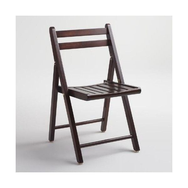 cost plus world market espresso wood folding chairs set of 4 100