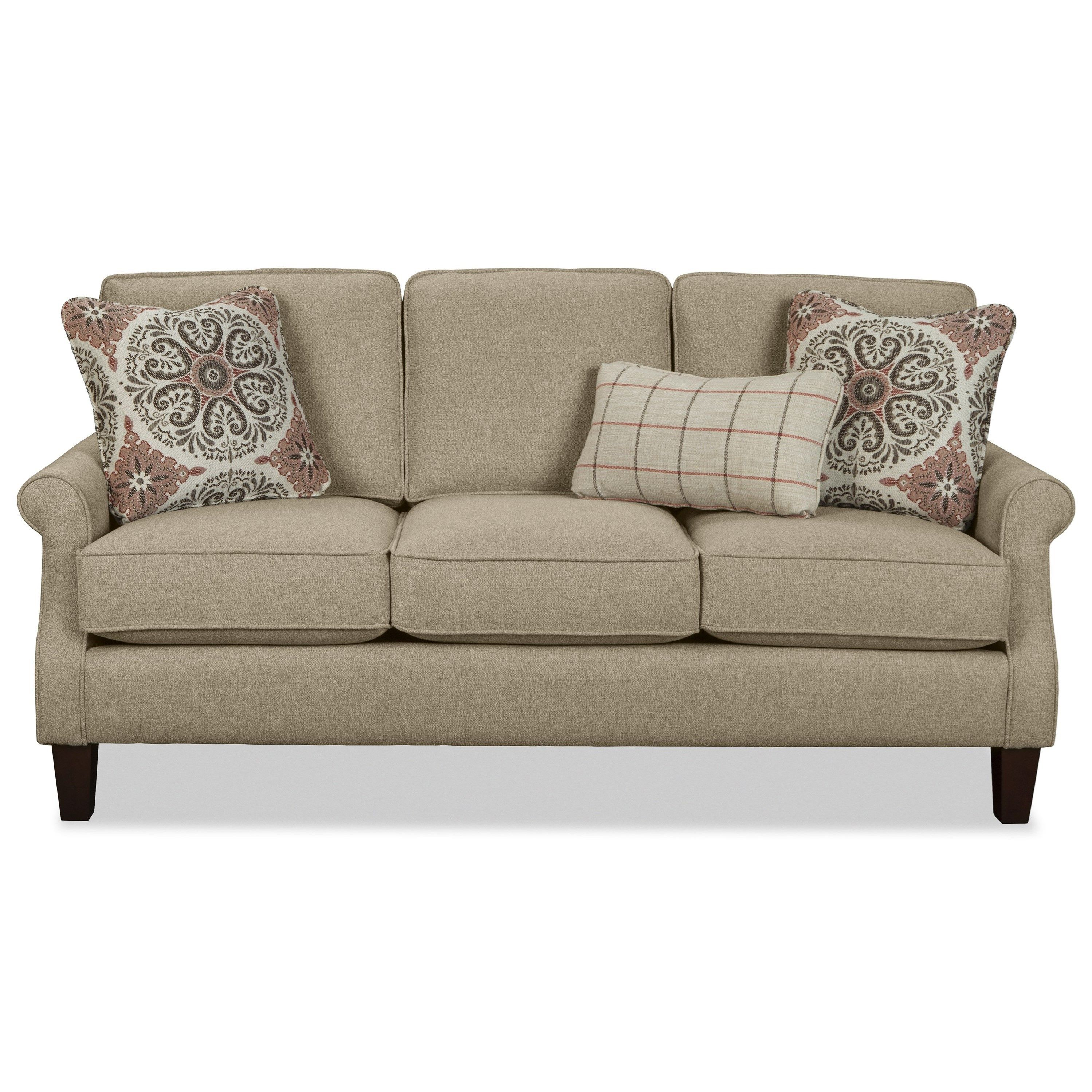 Catherine Apartment Size Sofa With Rolled Arms By