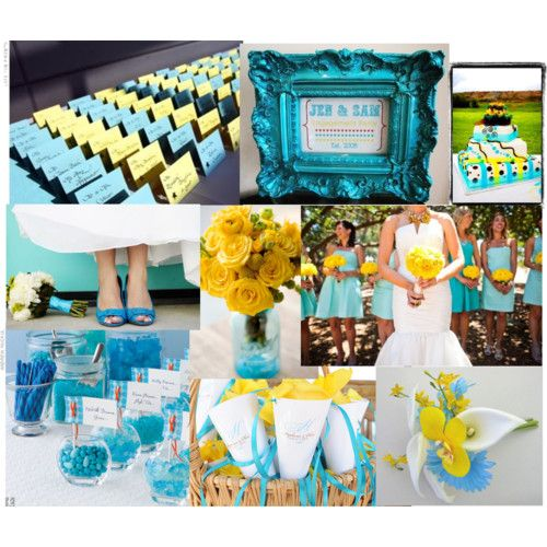 Gray Yellow And Turquoise Wedding Theme Spring By Emily Weddings Inc Featuring