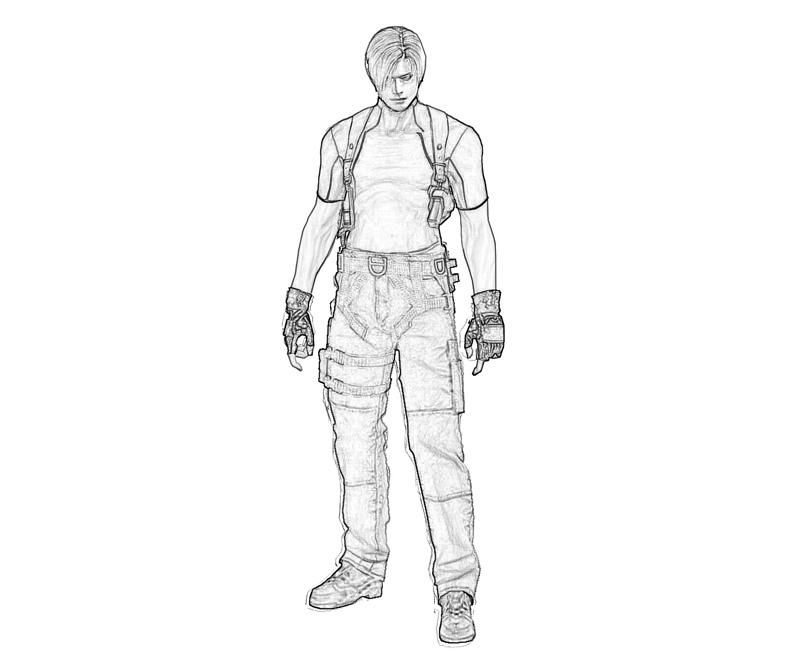 explore leon s kennedy resident evil and more coloring pages