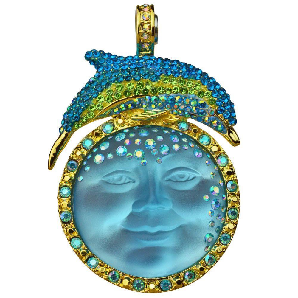 Kirks Folly Seaview Moon Goddess Dolphin Dreams Magnetic Enhancer Goldtone