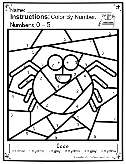 Halloween Color By Numbers For Numbers 0 10 Halloween Color By Number Addition Worksheets Halloween Coloring