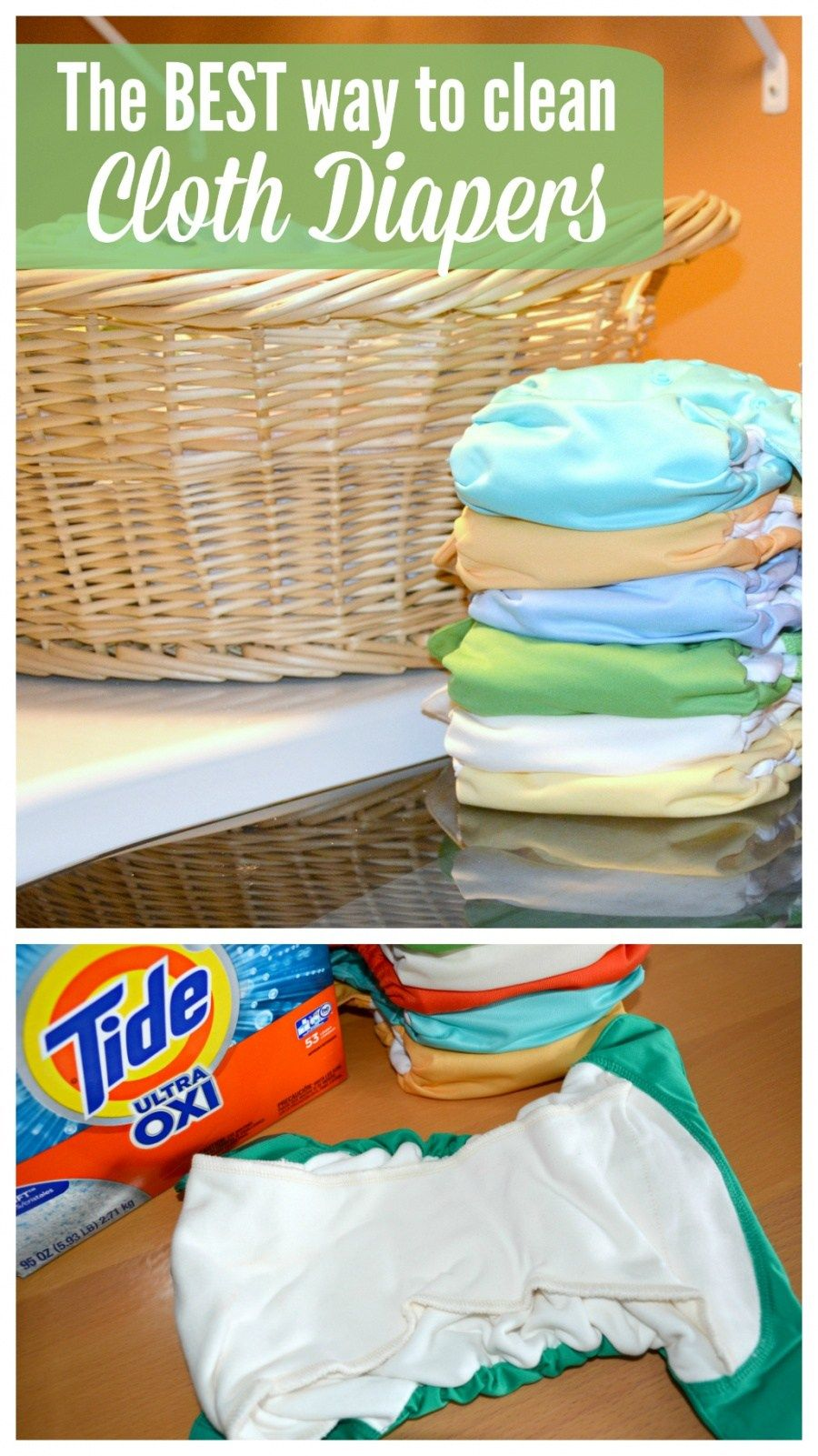 How to Clean Cloth Diapers Clean cloth diapers, Cleaning