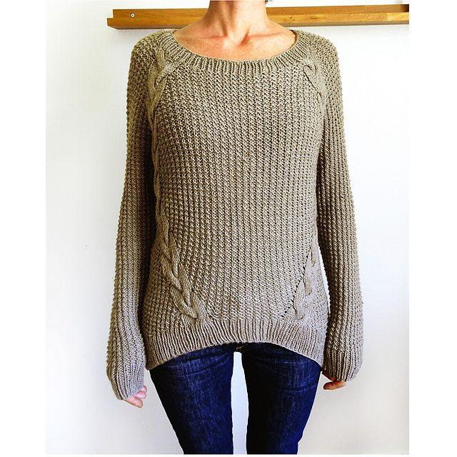 Dagmar sweater pattern by Handy Kitty | Tejido
