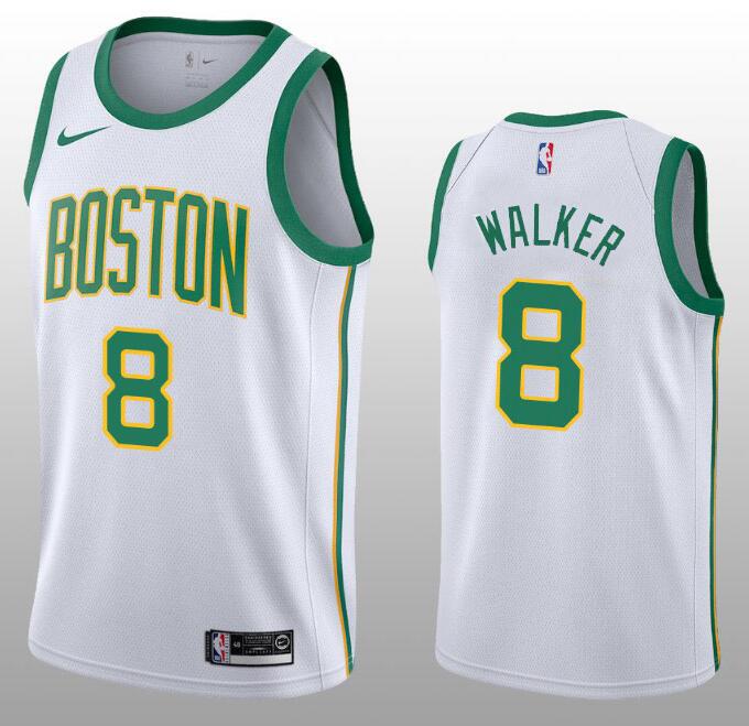 New Men 8 Kemba Walker Jersey White Boston Celtics Jersey Swingman Fanatics Nba Jersey Boston Celtics Jersey