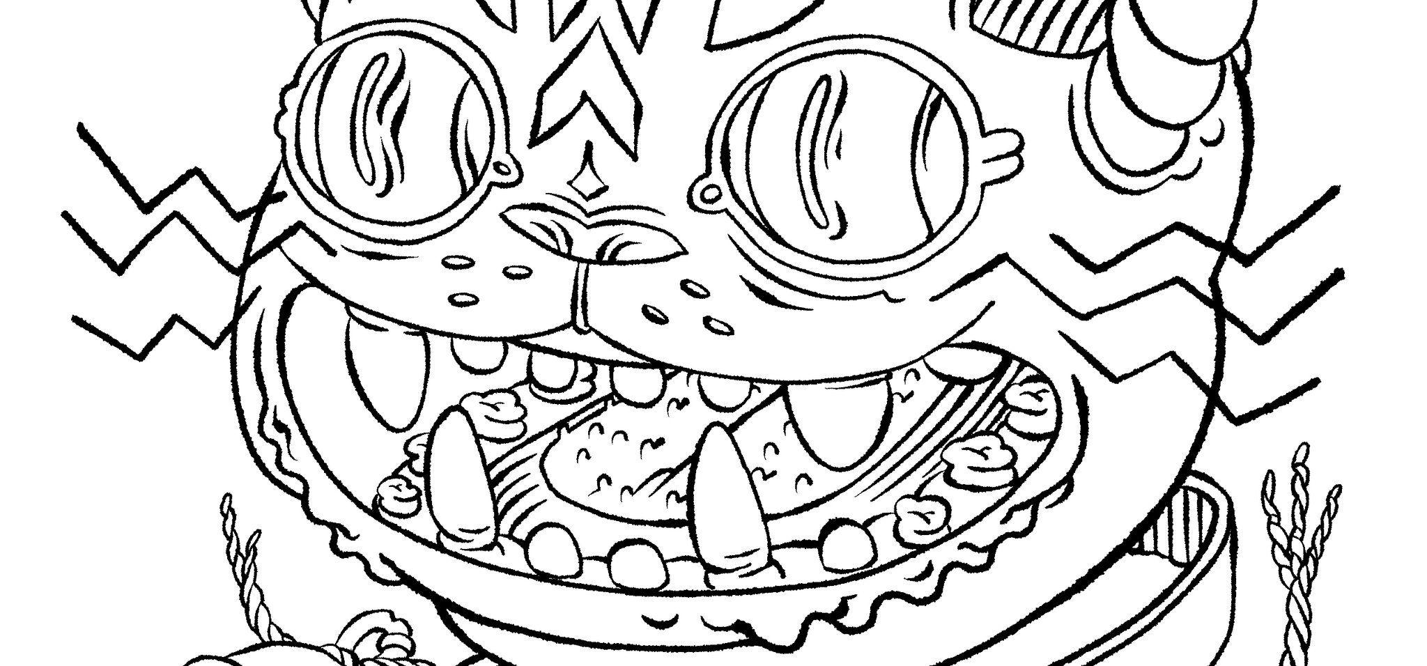 Space Cat Coloring Page | Cat coloring page, Coloring ...