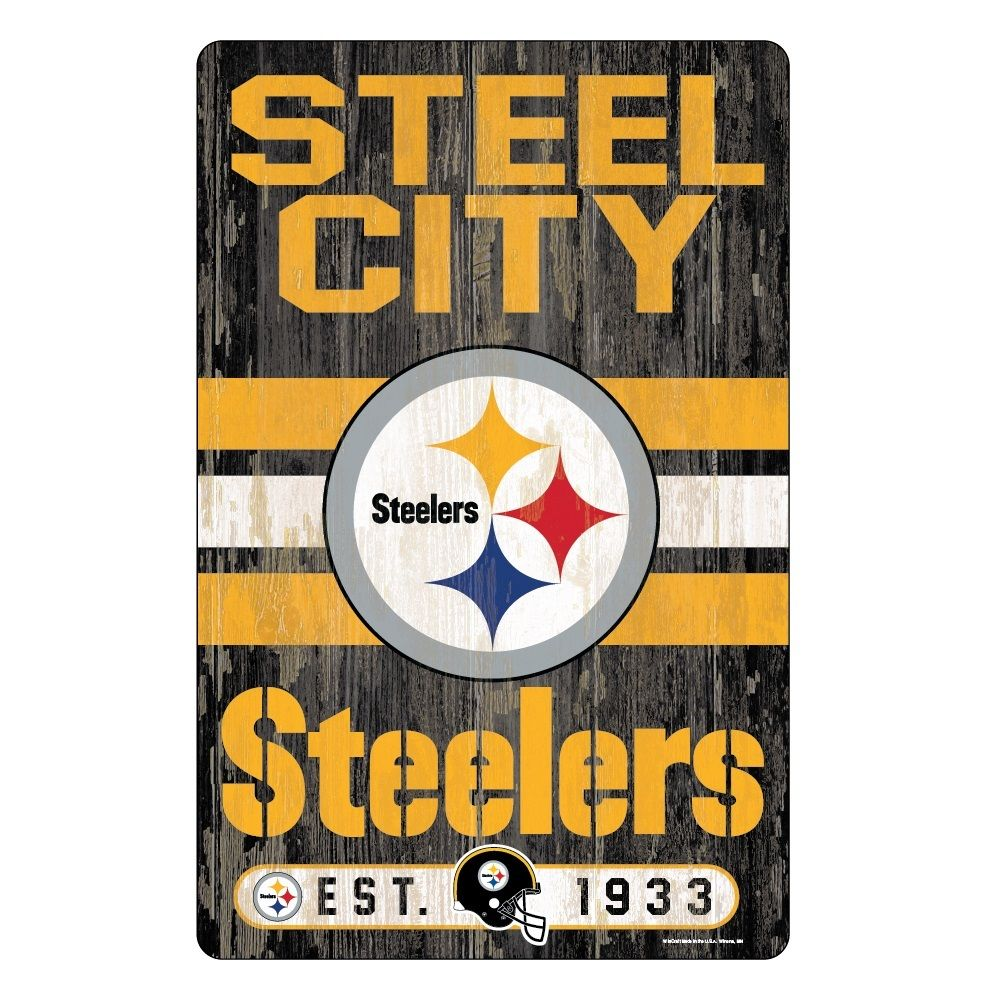 Pittsburgh Steelers Wall Sign, NFL, Football in 2020