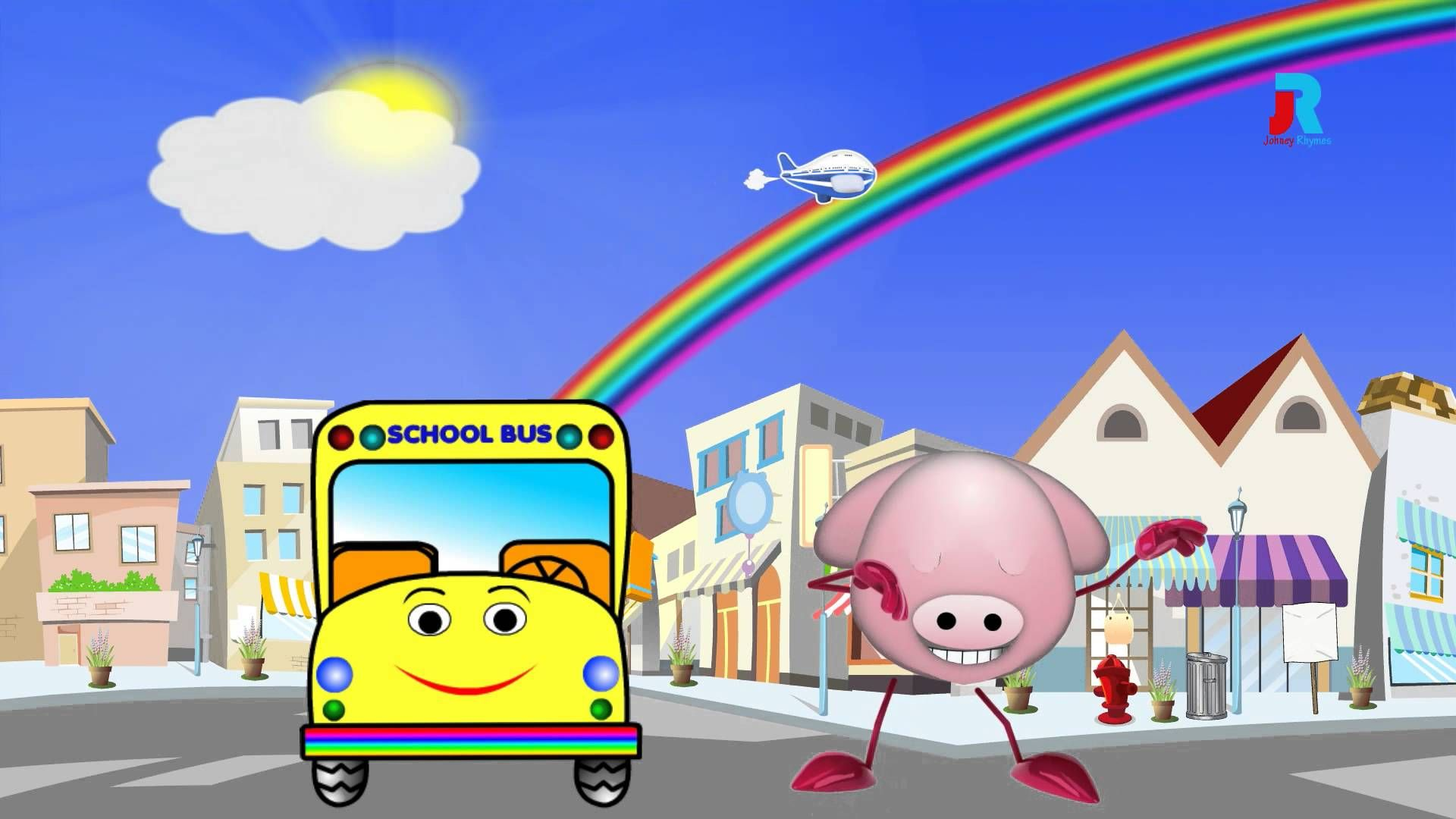 """The Wheels On The Bus"" Nursery Rhymes & Fun Kids Songs"
