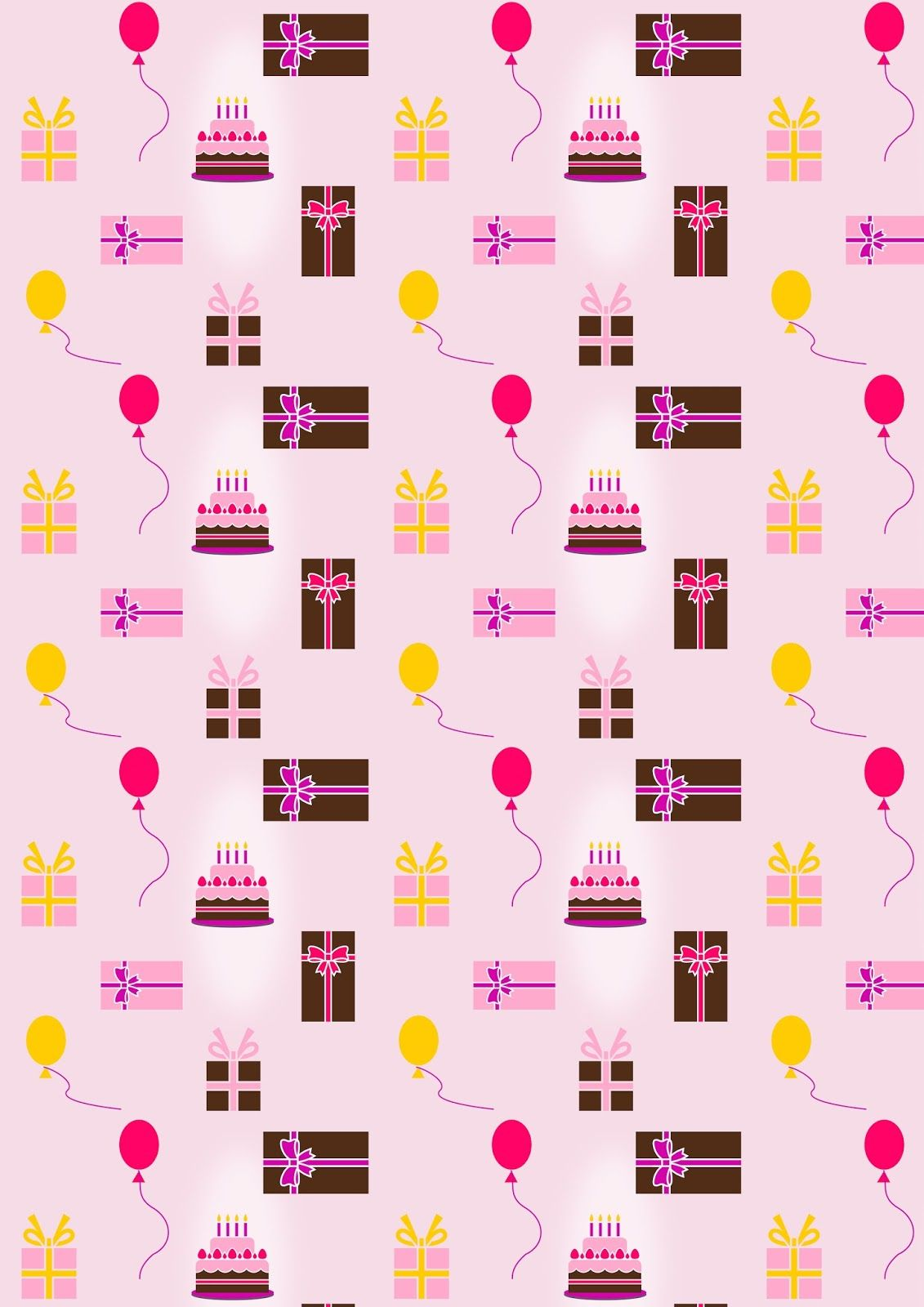 picture regarding Printable Birthday Wrapping Paper known as Absolutely free printable birthday wrapping paper ^^ paper behaviors