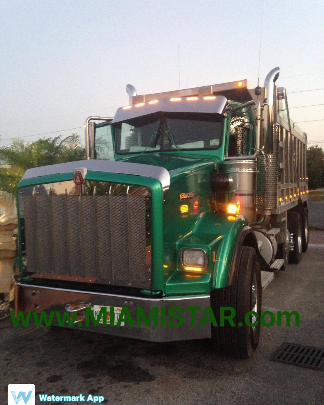 hight resolution of  kenworth t800 wide grille greenmachine dump truck chrome parts accessories led trucking worktruck custom kwopper miami usa miamistar