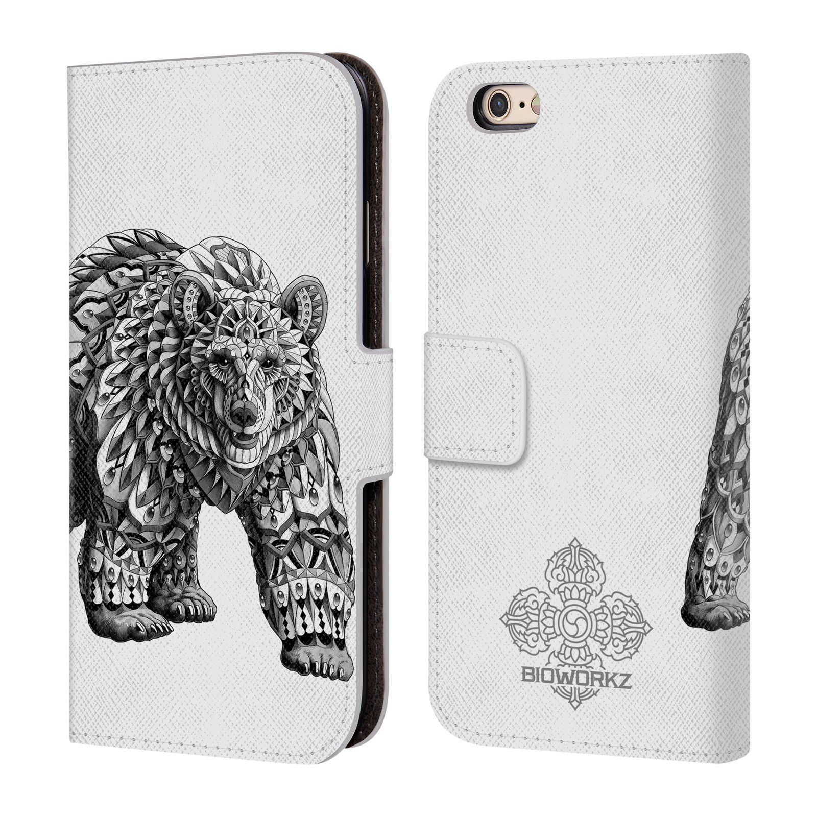 OFFICIAL BIOWORKZ WILDLIFE LEATHER BOOK WALLET CASE FOR APPLE iPHONE PHONES