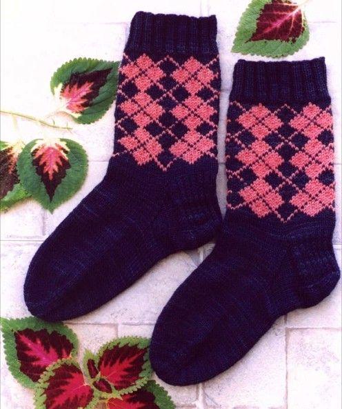 Cabin Fever--Lynda Gemmell--Ladies Argyle Socks | Sock ...