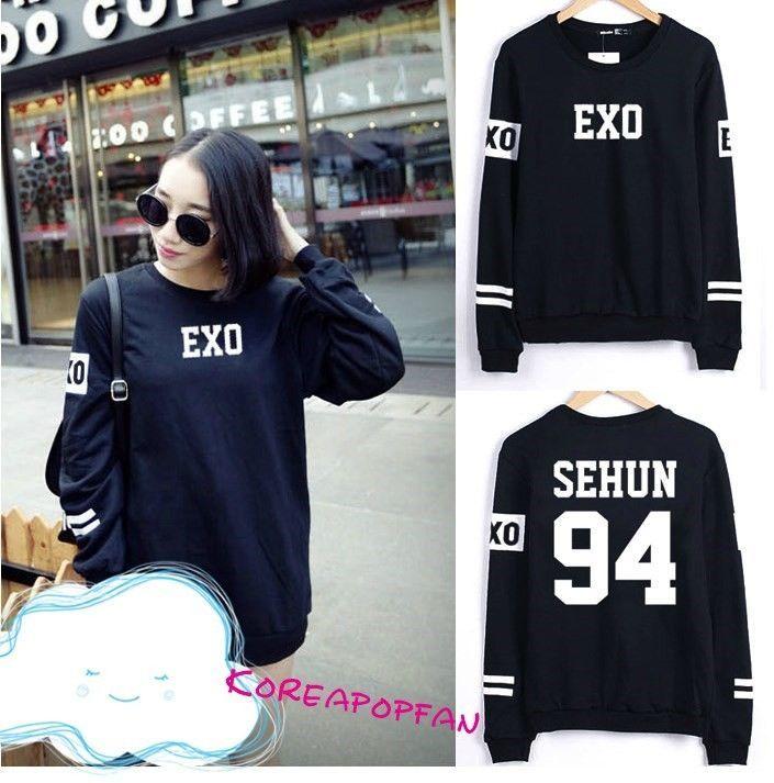 Exo Suho Sehun Luhan Chanyeol baekhyun tao kai lay longsleeve sweater New #KPOPFANMADE