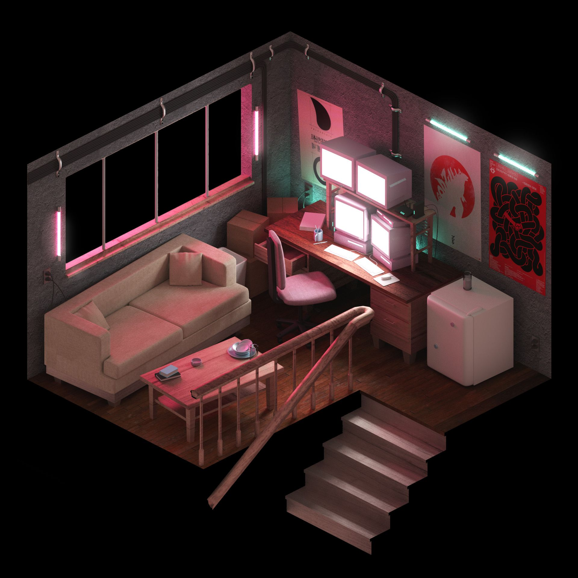 The Best Airbnb Cities For Home Decor Ideas: Isometric Environments, Ethan