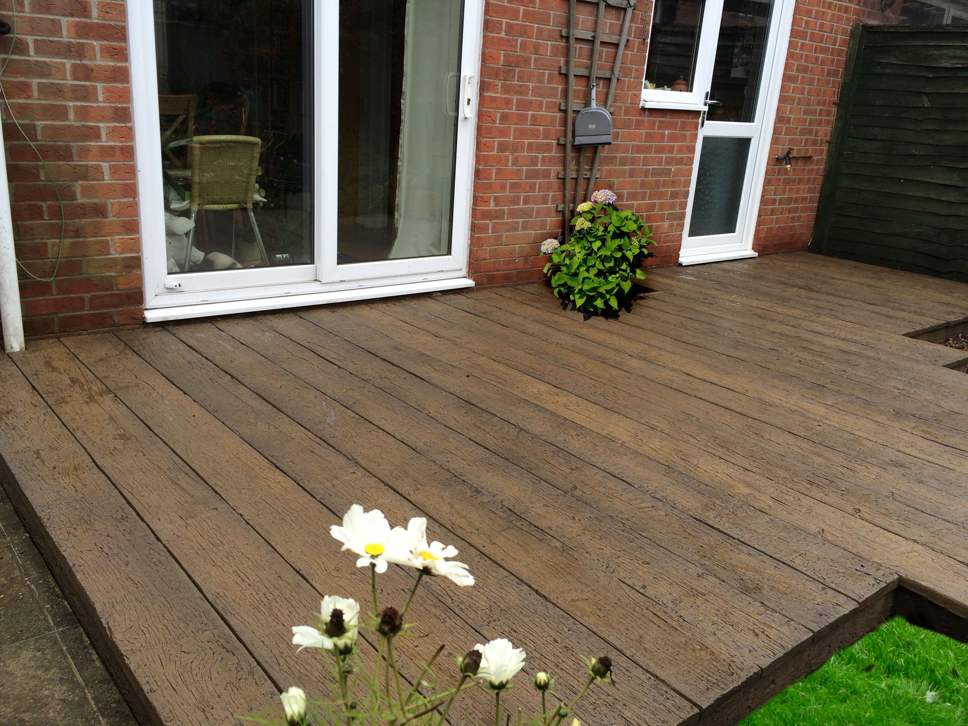Millboard weathered oak composite decking sunroom conversion
