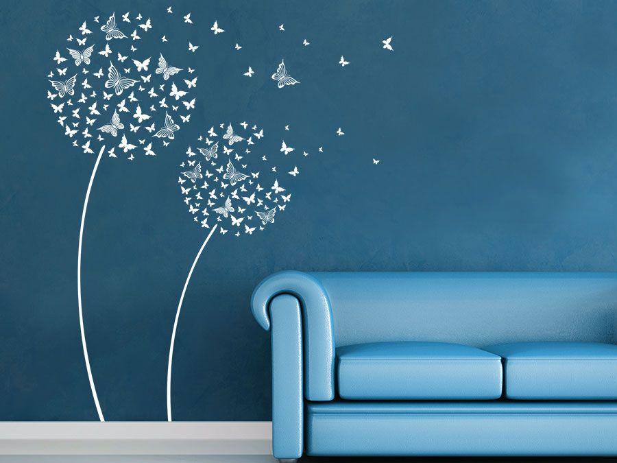 Wandtattoo Bluten Schmetterlinge Wandtattoo De Malerei Schlafzimmer Wande Schmetterlingszimmer Kinderzimmer Dekor