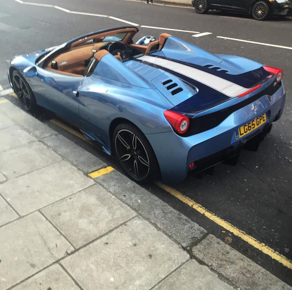 Ferrari 458 Speciale Aperta Painted In Azzurro California