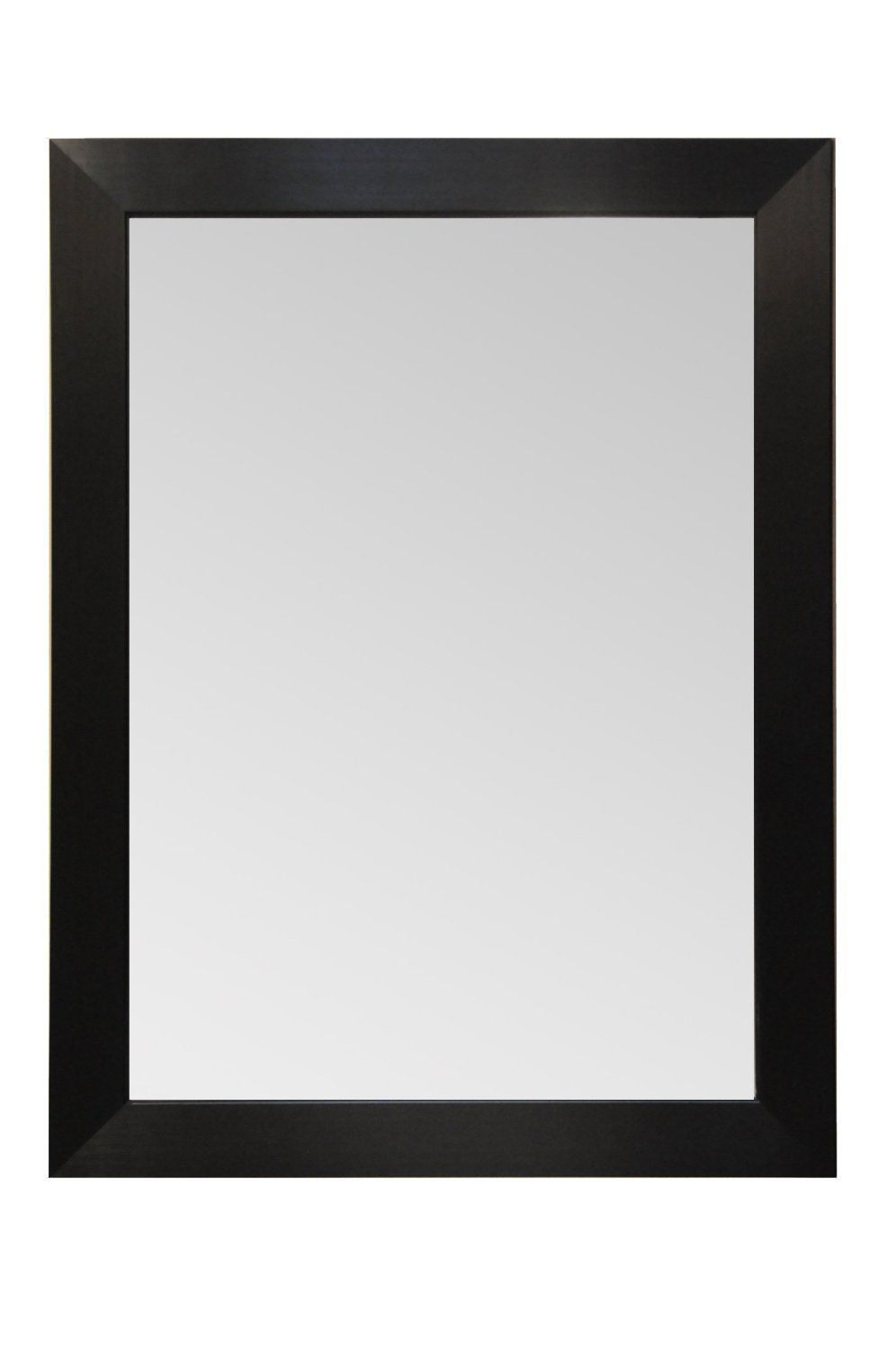 modern wood picture frames. Wood Frame Mirror Modern Elegant Wall Mounted Mirror, Rectangle, Black Finish, 3 Inch Wide Flat (44x34). Mirror. Desgin. Picture Frames M