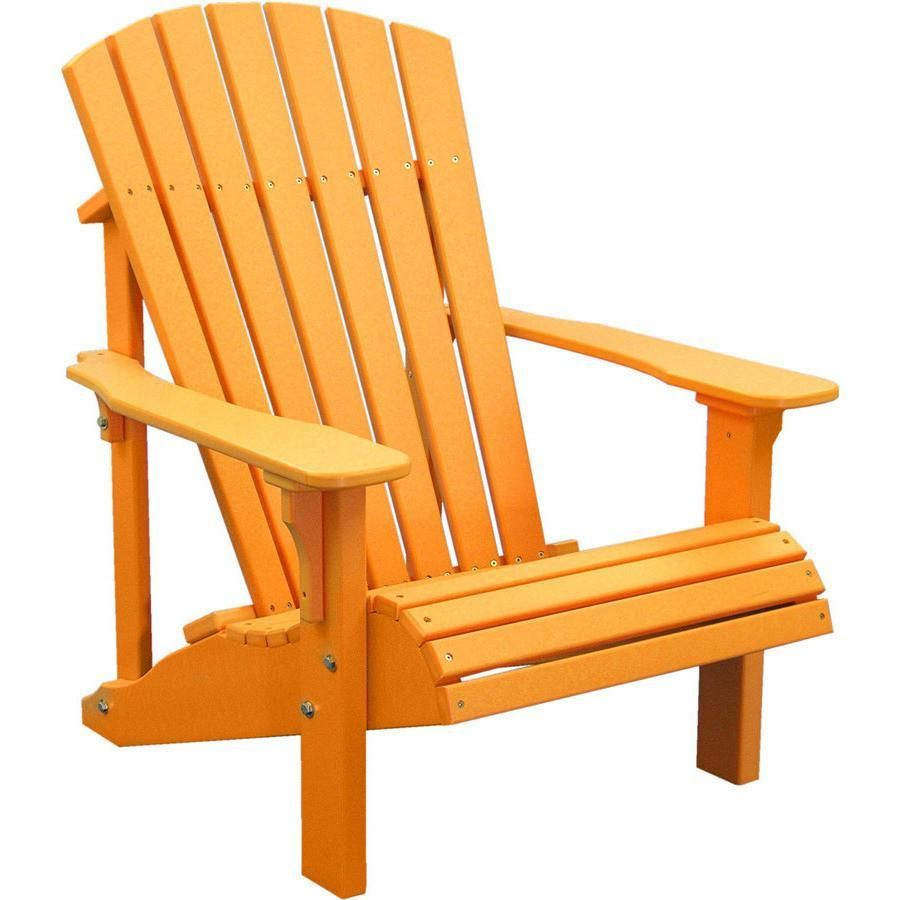 LuxCraft Recycled Plastic Deluxe Adirondack Chair