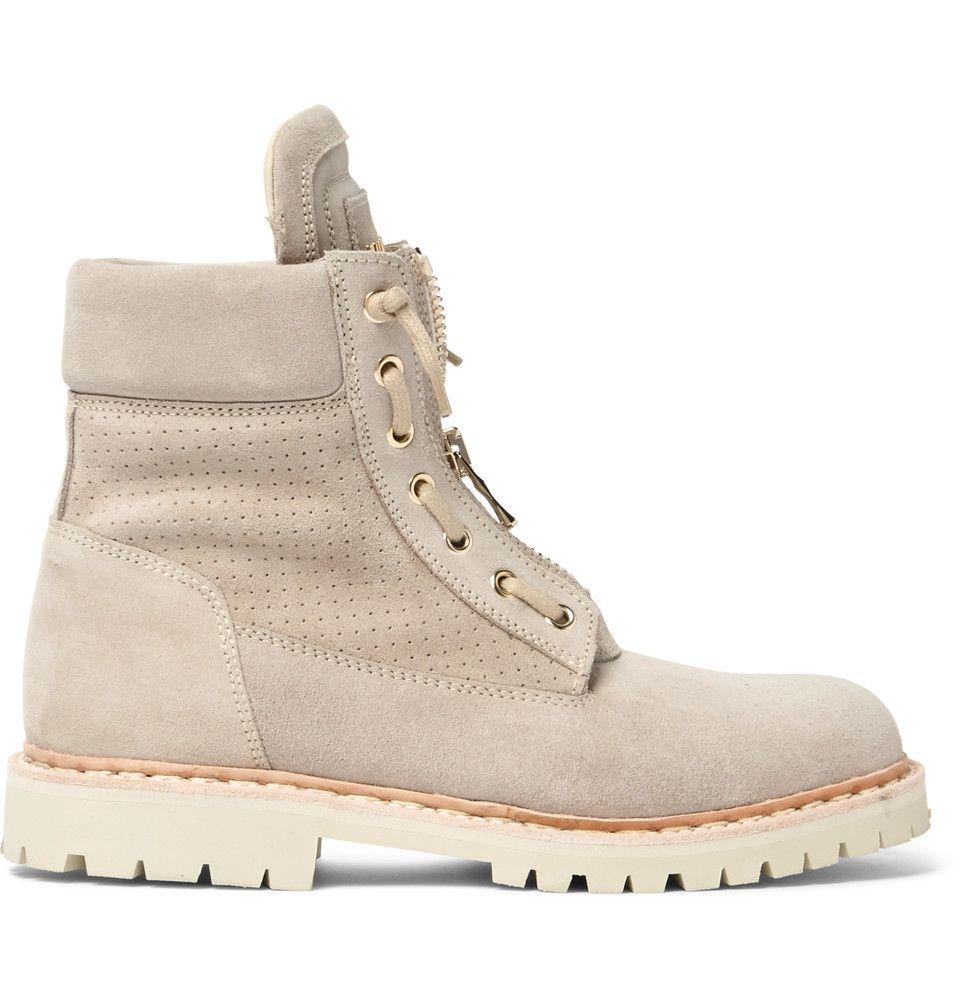 Balmain Suede Desert Boots 925 EUR $1290. Side view