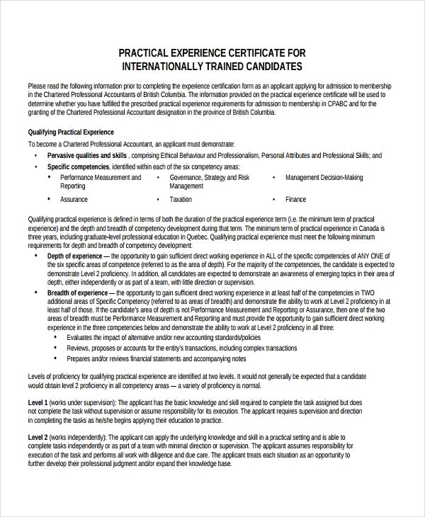 10+ experience certificate format in 2020 (with images cv for experienced person delivery driver resume skills nursing clinical instructor sample