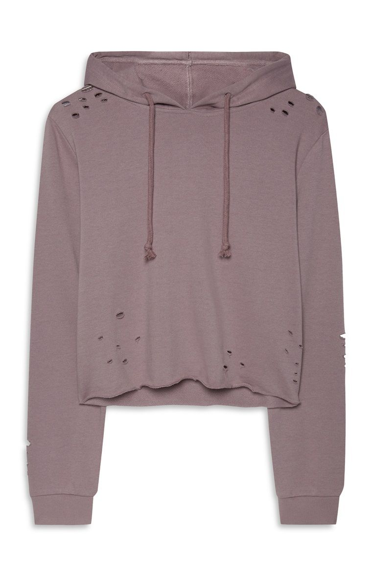 66220f2668b Primark - Distressed Crop Hoodie | Lazy day | Cropped hoodie ...