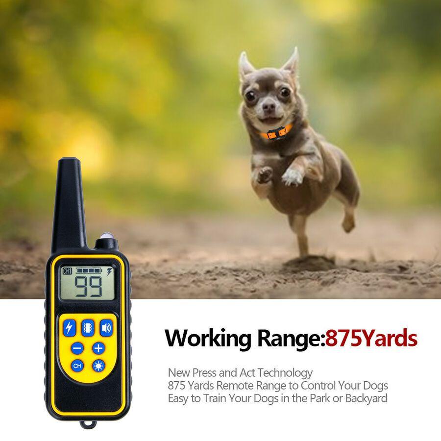 875 Yard Pet Trainer Waterproof Dog Training Shock E Collar