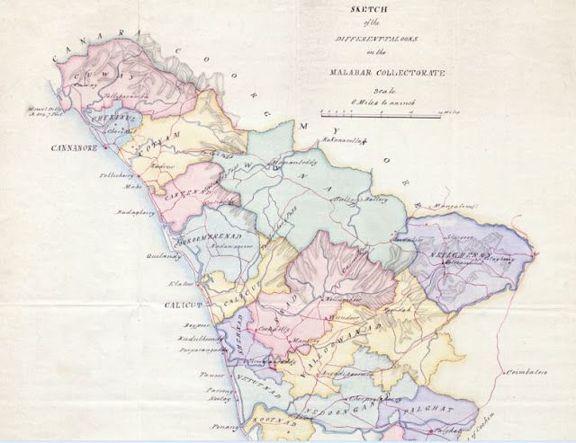 Kannur A Study With An Old Map Kannur Pinterest - Kannur map