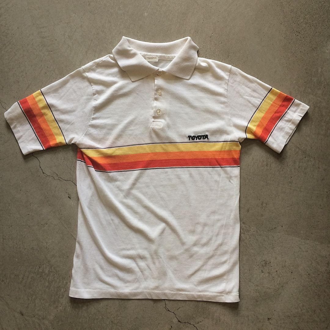 02940fd94 Vintage Toyota Tri-Color Stripe Polo T-Shirt $48+$8(shipping ...