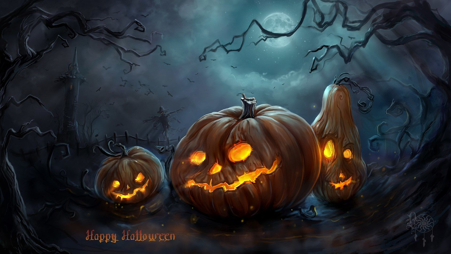 Download Halloween Pictures Images To Draw And For Wallpapers Sfondi Di Halloween Halloween Pauroso Quadri Halloween
