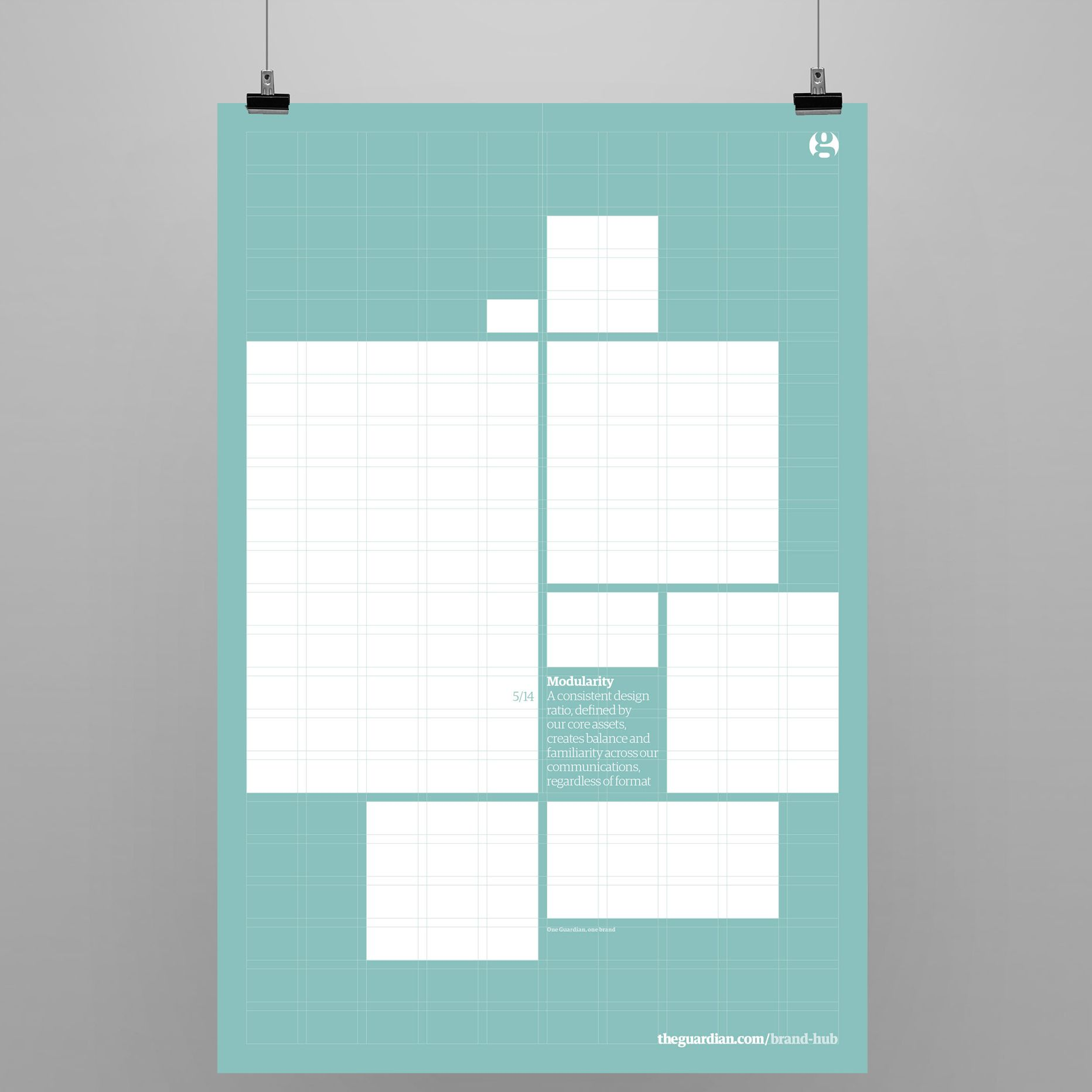 Poster design layout principles - I Designed Some Posters For The Guardian Internal Brand Launch Illustrating The Core Principles In