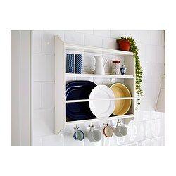 STENSTORP Plate shelf, white | Legno e Progetti