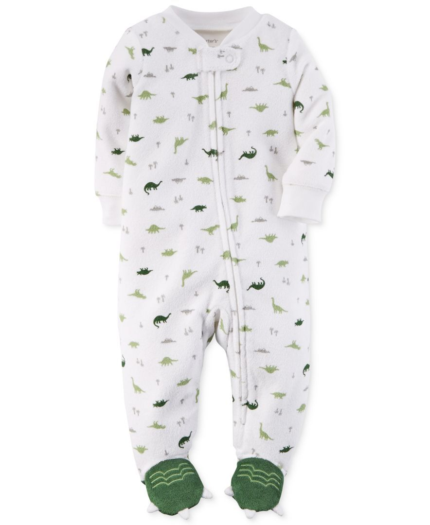 f37ce5adf346 Carter s Baby Boys  Terry Dinosaur Footed Coverall