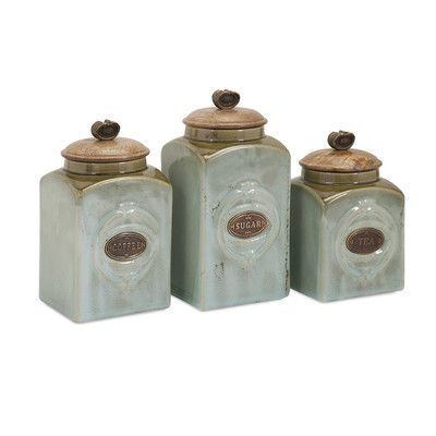 $8099 IMAX 3-Piece Addison Canister Set Home Kitchen Canisters