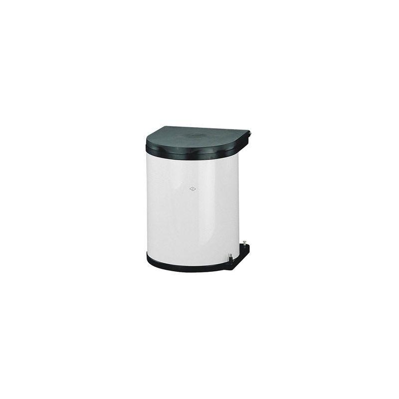 Poubelle Pivotante A Ouverture Automatique 13 L Decor Blanc