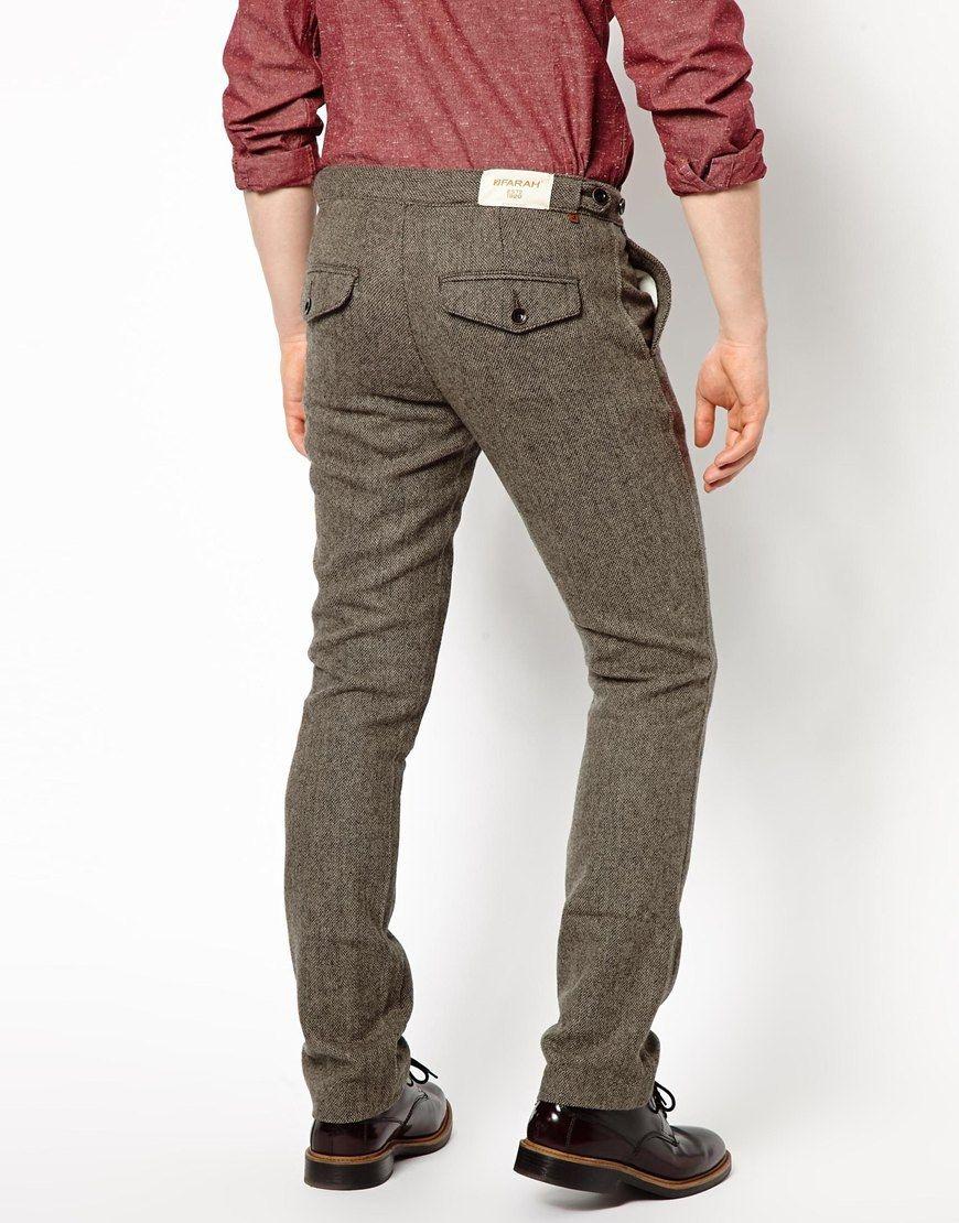 Chicos Hombre Pantalones Poco TraseroTendencias Para Con 534cqRAjL