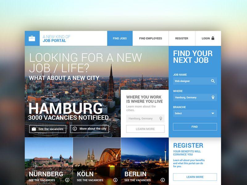 Job Portal Concept Job Portal Job Web Design