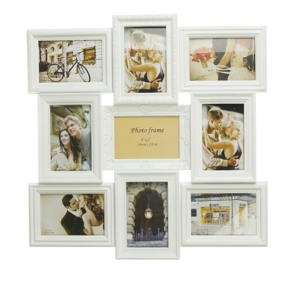 Marco portafotos m ltiple para 9 fotos 10x15cm decorar - Marcos de fotos para colgar ...
