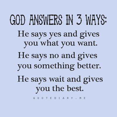 God always answers!